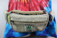 HEMP HANDMADE WAIST BUM BAG FANNY PACK BELT MULTI-POCKET TRAVEL FESTIVAL BB12