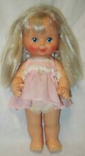 Vintage 1980 Ideal Pretty Curls vinyl doll- blond hair