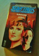STAR TREK THE NEXT GENERATION 4 Survivors Pocket 1st 1989 paperback Jean Lorrah