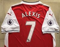 Authentic Puma Arsenal 16/17 Home Jersey - Alexis 7. BNWOT, Mens XL.