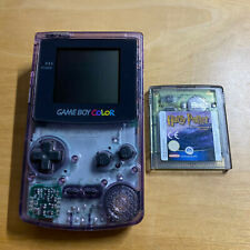 Nintendo Gameboy Color Clear Atomic Purple Console + Game