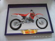 CARTE FICHE MOTO 2000 HONDA CR 500 R