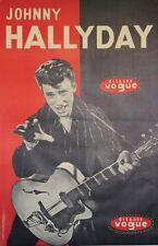 """""""Johnny HALLYDAY / DISQUES VOGUE""""Affiche originale entoilée André NISAK 82x124cm"""