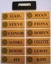 Personalised Name Badges 80mmx30mm  NAME  1 line  and  logo