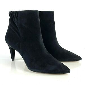 "ENZO ANGIOLINI  Ankle Boot Booties Size 7.5 M  Black Suede Point Toe 3"" Heel NEW"