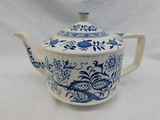 VINTAGE SADLER BLUE ONION TEAPOT STAFFORDSHIRE BLUE WHITE TEA POT ENGLAND