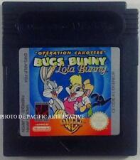 jeu BUGS BUNNY LOLA OPERATION CAROTTES sur nintendo game boy color warner bros