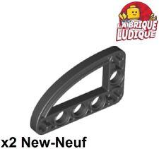 Lego Technic - 2x Liftarm 3x5 L shape thin ellipse noir/black 32250 NEUF