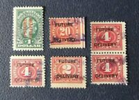 Y18, Sellos USA, 6 Stamp Future Delivery Estados Unidos Usados