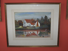 KW Mark, Radwinter Artist, Willie Lots Cottage, Original Essex watercolour art,