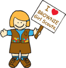 4 Brownie Girl Scout Stickers #18002 Scouting I Love Brownie Girl Scouts Blond