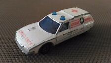 Voiture Miniature Matchbox Superfast « Ambulance Citroën CX » 1979 En Bon Etat.