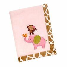 NWT Carters Jungle Jill Collection Monkey Elephant Giraffe Pink Boa Baby Blanket