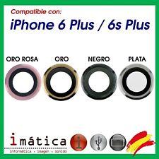 CRISTAL CAMARA PARA IPHONE 6 PLUS / 6S PLUS 5.5 LENTE TRASERA GRIS PLATA ORO