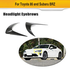Carbon Front Headlight Eyelids Eyelashes Eyebrow For Toyota 86 Subaru BRZ 12-18