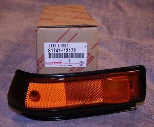 1986 1987 Corolla AE86 Left Front Side Turn Signal Lamp Lens - Genuine Toyota