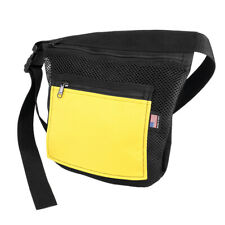Deluxe Beach Pouch with Zippers - Black and Yellow