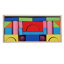 Building Blocks Kids Toys Wooden Construction Castle House Educational YO