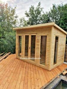 shed summer house pent log cabin summerhouse garden office workshop gym storage