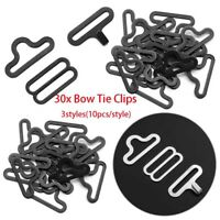 30pcs/SET Useful Bow Tie Hardware Necktie Hook Bow Tie Cravat Clips Fasteners-