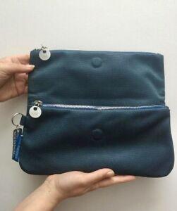 Mandarina Duck Blue Metallic Clutch Bag. New