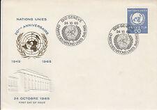 Schweiz  FDC Ersttagsbrief 1965 ONU/ UNO Emblem Mi.Nr.30