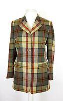 Vintage Daks Ladies Pure Silk Tartan Check Tweed Country Blazer Jacket UK 12