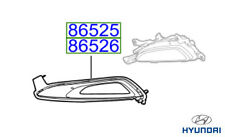 Genuine Hyundai Tucson Front Fog Lamp Upper Cover, RH - 86526D7100