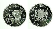 pcc1659_1) Somalia 2015 - Oncia Argento Proof Elefante - 100 shillings 2015 1 OZ