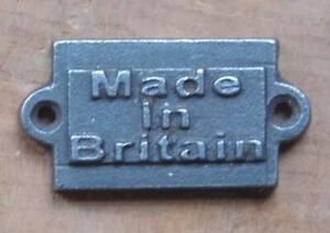VINTAGE STYLE SOLID CAST IRON PLAQUE WALL SIGN MADE IN BRITAIN DOOR PLAQUE