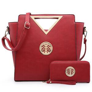 Dasein Medium Classic Satchel with Matching wallet