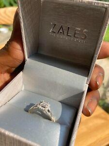 White Gold 1/4kt Diamond Engagement Ring (Insured)