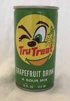 Vintage Tru-Treat Grapefruit Mix SODA Pop Drink BANK Steel Can Winking 😉 Fruit