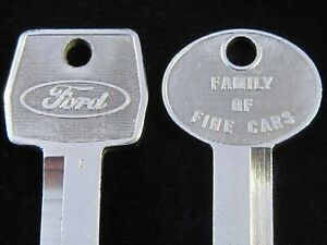 OEM FORD LINCOLN MERCURY KEY BLANK SET 1967-1992 Torino F-150 LTD Bronco Mustang