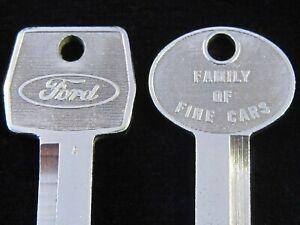 OEM FORD LINCOLN MERCURY KEY BLANK SET 1967-1992 Torino F-150 LTD Bronco Mustang
