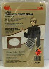 """Dritz Covered Oval Shaped Raglan Shoulder Pads Vintage Black 1/4"""""""