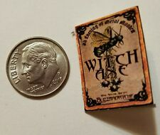Miniature dollhouse Halloween witch spell book Barbie 1/12 Scale   Haunted NC