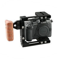 CAMVATE DSLR Camera Cage Right Wood Hand Grip Adjust Frame kit fr Canon Sony GH5