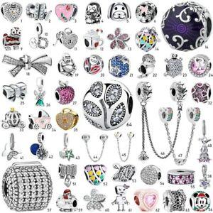 925 European Sterling Beauty Silver Charm Pendant Bead For Bracelet bangle Chain