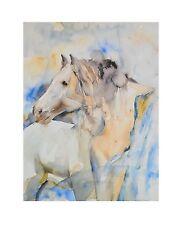 R. Heitzinger Akt mit Pferd Poster Kunstdruck Bild 50x40cm