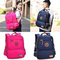 New Boys Girls Kids Waterproof Nylon Backpack Teenager Book School Bag Rucksack