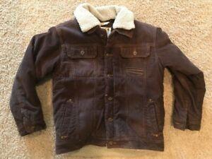 VTG Timberland Boy's Corduroy Sherpa Lined Jacket, Size Large 16-18