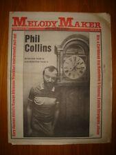MELODY MAKER 1981 FEB 7 PHIL COLLINS NUMAN STRANGLERS