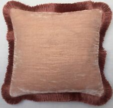 Coussin Anke Drechsel Luxe Plain Fringe Pink Quartz Pillow almohada Cushion