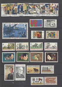 U.S. 1973 Commemorative Year Set 34 MNH Stamps