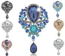 Wedding Grace Lady Rhinestone Brooch Tr Women Large Fashion Drop Pendant Crystal