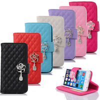 Rhinestone Bling Flip Wallet Leather Case Cover For Apple iPhone 6 4.7 Inch Tide
