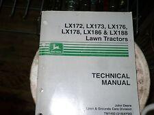 John Deere Technical Manual for Lawn Tractors Lx172,Lx173,Lx176,Lx178,LX186...