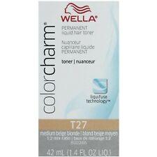 WELLA PROFESSIONALS COLOR CHARM LIQUID HAIR TONER T27 MEDIUM BEIGE BLONDE 42ML