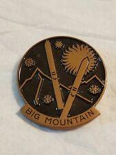 Vintage BIG MOUNTAIN MONTANA SKI PIN HUGUENIN SWITZERLAND #A